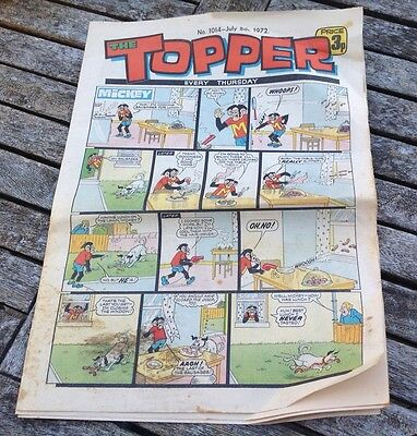VINTAGE TOPPER COMIC 8th July 1972 Issue no 1014
