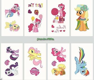 Frozen My Little Pony Temporary Tattoos Girls Party Favors Bag Fillers Kids gift