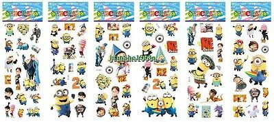 1-30 Sheets Puffy Despicable Me Minion Stickers Girls Party Favors Bag Fillers