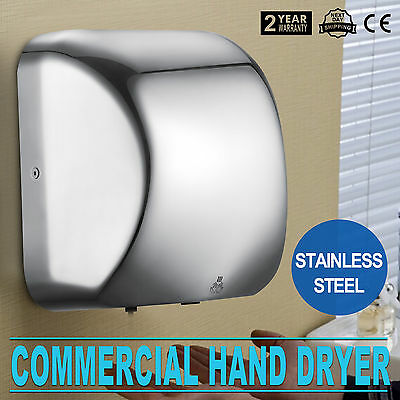 1800W Electric Hand Dryer Automatic Sensor Stainless Steel Commercial Bathroom