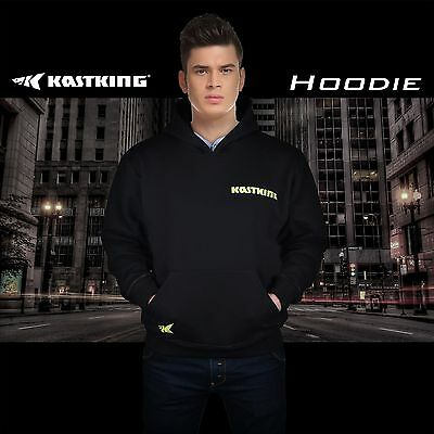 New Arrival! KastKing Mens Fishing Hoodie Sweatshirt Black Fleece Jacket