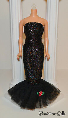 Solo In The Spotlight Black Evening Gown ~ Mattel Reproduction Barbie Fashion