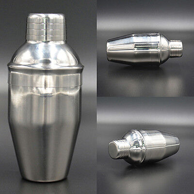 250 350 550 750Ml Stainless Steel Cocktail Shaker Drink Mixer Party Bar Hot Chic