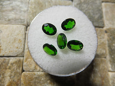 CHROME DIOPSIDE  STUNNING FINE GEMSTONES x 5  TOTAL 3.64Ct MF8093