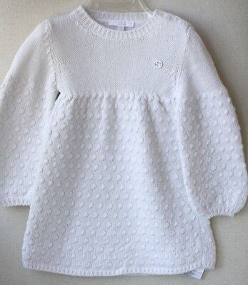 Gucci Baby Ivory Knit Dress 9-12 Months