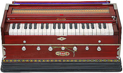 Harmonium Bina No.9A|Coupler|42 Key/indian|3½ Octaves|Multi-Fold|Bag|Bcb-2