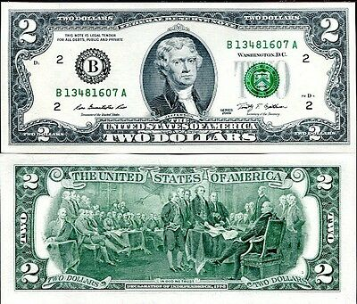 """USA - United State of America 2 Dollars 2009 """"B"""" New York FDS - UNC"""