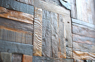 Decorative Vintage Wooden Tiles For Wall, Wall Tile, Wall Covering, Decor, UK