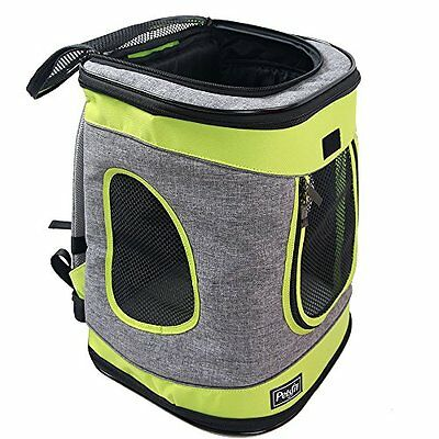 Petsfit Fabric Foldable Pet Carrier for Dogs and Cats, Grey and Green Color, Pet