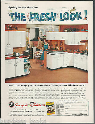 1955 YOUNGSTOWN KITCHENS advertisement, Fresh Look Kitchen, large size ad