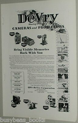 1929 DeVry advertisement, DEVRY Moving Picture Cameras & Projectors, Movies