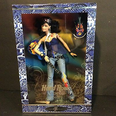 2005 Mattel HARD ROCK CAFE BARBIE Brunette Doll Guitar Collector Pin J0963