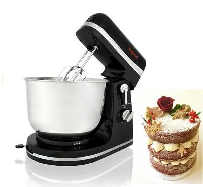 Stand Mixer Electric 6Speed 3.5L Bowl  White Beaters & Dough Hooks Body Steel