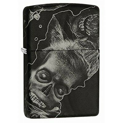 Zippo Zombie Soft Touch Black Windproof Lighter Brand New