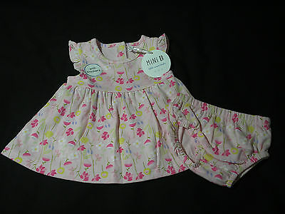 Baby Girl Dress and Knickers Floral cotton Mini B BHS Newborn - 12 months