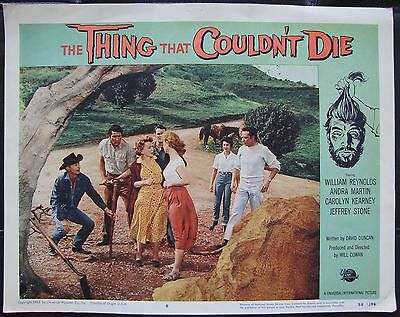 THING THAT COULDN'T DIE Universal MONSTER HORROR 1958 Orig US LOBBY CARD #6