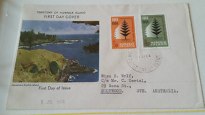 Norfolk Island 1964 Sg 55-56 First Day Cover