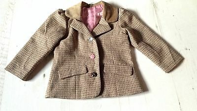 12-18months Tiny Childs Tweed Show Jacket Ponies Shetland Brown