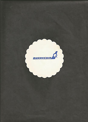 Vintage Canadian QUEBECAIR Paper BAR COASTER