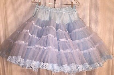 Square Dance Petticoat Baby Blue 2 Layer - Medium
