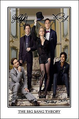4x6 SIGNED AUTOGRAPH PHOTO PRINT OF THE BIG BANG THEORY CAST #35