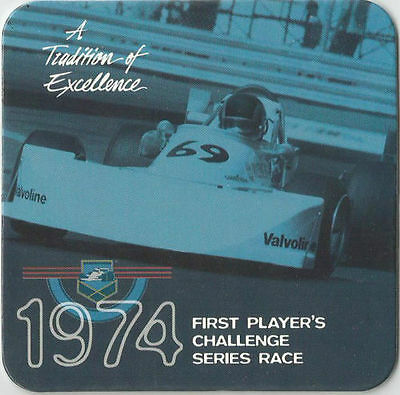 1974 First Player's Challenge Series Race Player's Racing Bar Coaster