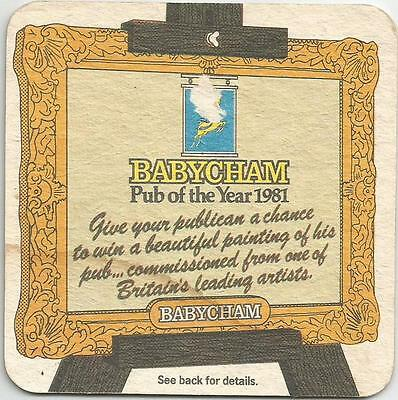 British BABYCHAM PUB OF THE YEAR 1981 BAR COASTER BAR MAT