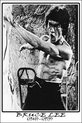 4x6 SIGNED AUTOGRAPH PHOTO PRINT OF BRUCE LEE #34