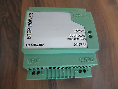 1 NEW Phoenix Contact STEP-PS-100-240AC/5DC/4 POWER SUPPLY 2938918