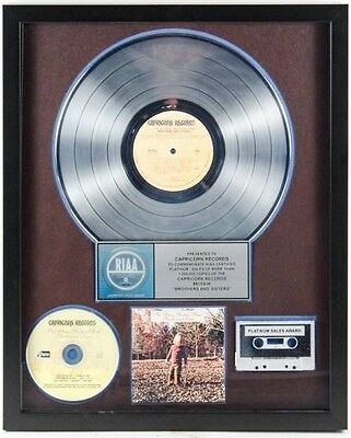 "Allman Brothers ""Brothers and Sisters"" RIAA Platinum Record Award Album"