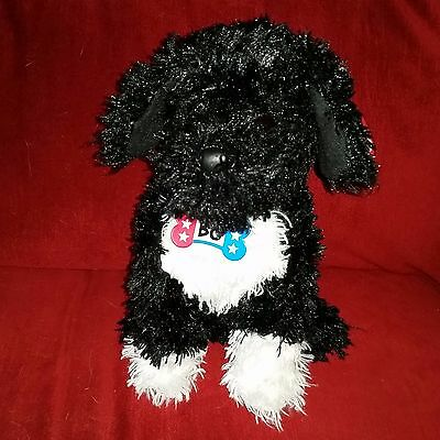 Ty Classic BO Portuguese Water Dog Black White Puppy 11in Plush Dog 2009 Tags