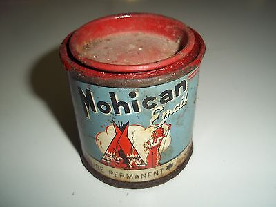 ancienne boite tole litho peinture email mohican tin box blechdose