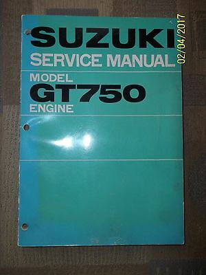 Suzuki GT750 Engine Service Manual