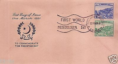 Pakistan Fdc 1961 Worlds First Meteorological Day .