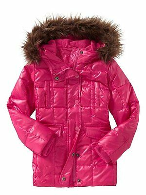 NWT GAP KIDS GIRL'S  PINK DOWN FILLED Coat Jacket size XL 12 Years