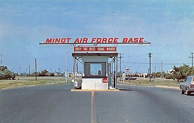 Minot Air Force Base ND~Gate Guard Shack~Only the Best Come North~1960s Cars~PC
