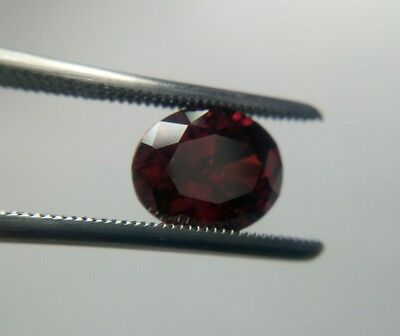 Red Garnet Cubic Zirconia 10 x 8mm Oval Cut Loose Gemstone AAAAA lot of 2 stones