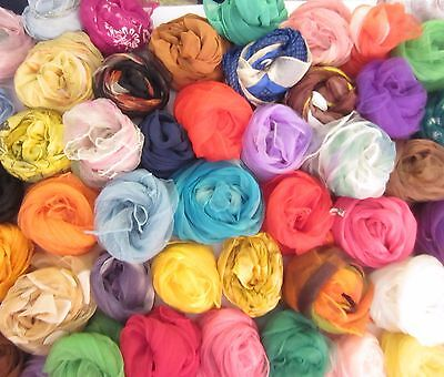 TERRIART Special Lot of 50 Asst CHIFFON Scarves -Vintage