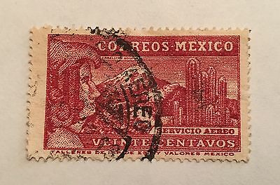 MEXICO C74 SCARCE - 1935 Amelia Earhart Flight Mexico Stamp Free US Insured Ship