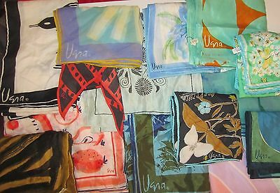 TERRIART Lot of 10 Assorted VERA Scarves - Vintage
