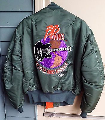 B.B. KING - Staff / Crew Embroidered Bomber Jacket -King Of The Blues Worldwide