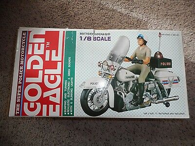 1/6 Scale Golden Eagle Super Police Motorcycle, complete with box