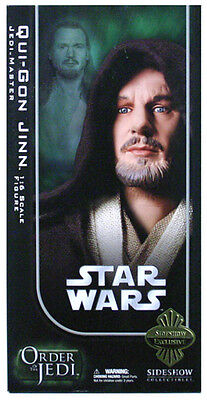 """SIDESHOW COLLECTIBLES_Star Wars_QUI-GON JINN 12 """" fig._Exclusive Limited Edition"""