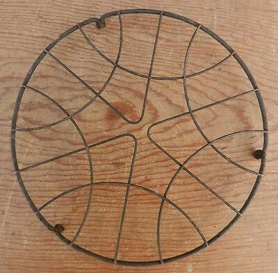"Antique / Vintage Round Twisted Wire Form Trivet 8"" Diameter on Feet Ships $4.95"