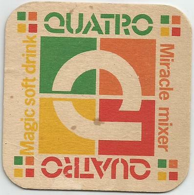 QUATRO MAGIC SOFT DRINK MIRACLE MIXER BAR COASTER 1980's