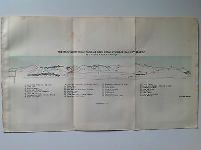 Cairngorms From Aviemore Railway Station,1911 Antique Map, Bartholomew Atlas