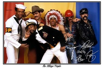 4x6 SIGNED AUTOGRAPH PHOTO PRINT OF THE VILLAGE PEOPLE #24