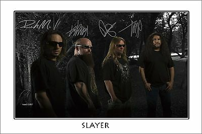 4x6 SIGNED AUTOGRAPH PHOTO PRINT OF SLAYER #24