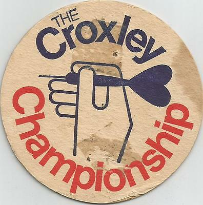 THE CROXLEY DARTS CHAMPIONSHIP Vintage British BAR COASTER BAR MAT