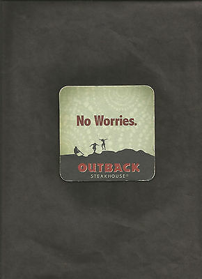 Outback Steakhouse No Worries 2 Much Txting Mks U 1 Bad Splr Bar Coaster